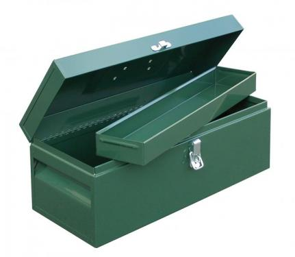 MECHANIC'S BOX WITH REMOVABLE 1/2 TRAY (16 x 7 x 7 1/4)
