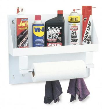 AEROSOL CAN / OIL BOTTLE RACK & PAPER TOWEL DISPENSER (19 3/8 x 14 7/8 x 4 1/2)